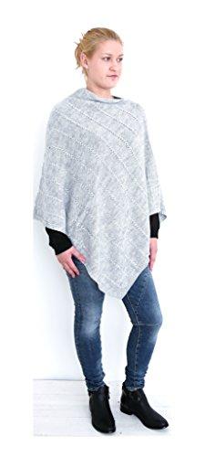 t*fd - Poncho - para mujer gris claro
