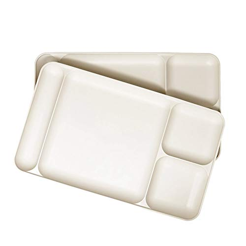 Set of Two - Off white / Almond colored Tupperware Dinner Di