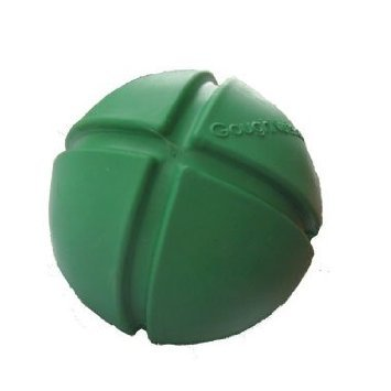 Goughnut Green Ball Rubber Dog Chew Toy, My Pet Supplies