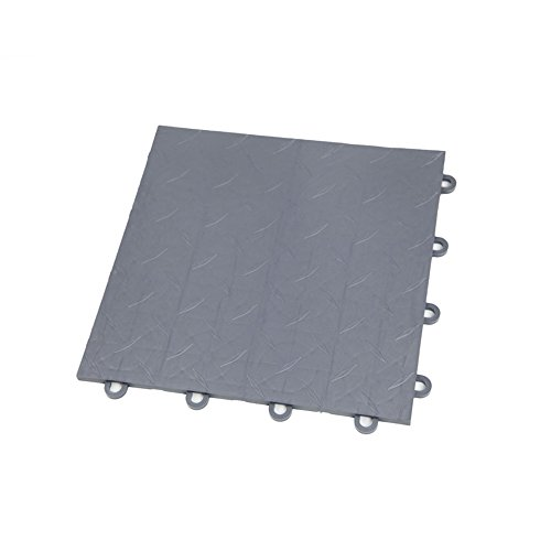 "IncStores Nitro Garage Tiles 12""x12"" Interlocking Garage Flooring (1-12""x12"" Tile, Diamond Graphite)"