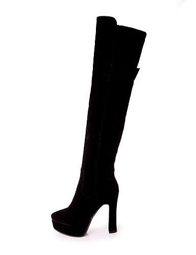 Uk1 Mode Noir Chaussures Rouge 5 Habillé Bottes Décontracté Cn32 laine us3 La Gros Femme Talon Beige 5 Arrondi Bout Black À Eu33 Xzz pRqIw6dw