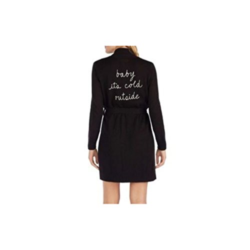 Kate Spade New York Baby It's Cold Outside Knit Robe Black -  5041455-001