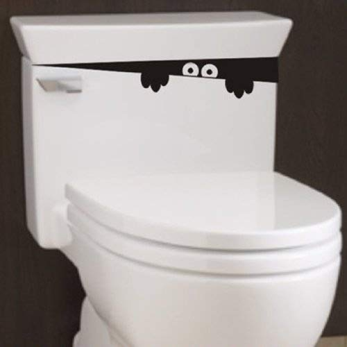 2pcs Monster Toilet Stickers Wall Art Decal Removable DIY by homeking