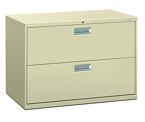 - HON 692LL 600 Series 42-Inch by 19-1/4-Inch 2-Drawer Lateral File, Putty