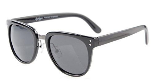 Eyekepper Retro Oversize Polarized Sunglasses Black/Grey - Latest Fashion Glasses