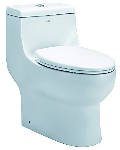 EAGO TB358 Dual Flush Elongated Ceramic Toilet (1 Piece),...