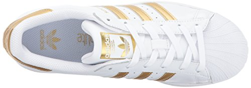 Superstar Originals Gold adidas White Trainers Boys' Blue Metallic 4P5qwz
