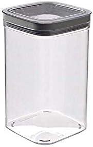 Curver - Dry Cube Tarro Hermético con Tapa para Conservar Alimentos en Seco 1,8L. - Color Transparente / Gris