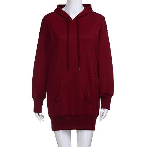 Tops Décontractée Taille Fille Pull Manteau Rouge Hoodie Vin Sport Sweats Femmes Manches Mode À Feixiang Capuche Longues Sweat Hiver Robe Grande Hooded Coton Veste Sweatshirt Swag wAq7UBcxC