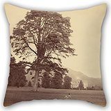 Beautifulseason Pillow Cases Of Oil Painting Vernon Heath (British - Great Scots Fir On Lawn 18 X 18 Inches / 45 By 45 Cm,best Fit For Adults,home Theater,couch,bench,teens Boys,son Twice Sides