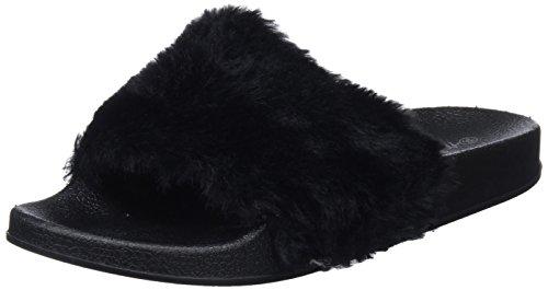 Xti 48008, Sandales Bout Ouvert Femme Noir (Black)