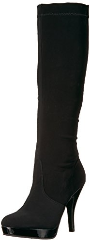 Kenneth Cole REACTION Women's Group File Stretch Shaft Over The Knee Boot, Black, 9 Medium (Black Women Stretch Boot)