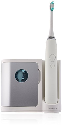 Dazzlepro Elements Sonic Toothbrush and UV Sanitizing Base, Silver