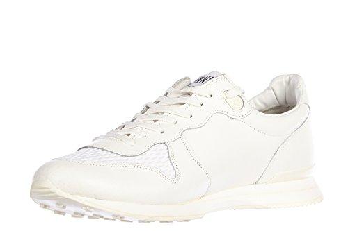 Golden Goose zapatos zapatillas de deporte hombres en piel nuevo running blanco