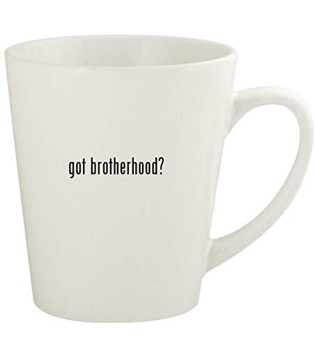 got brotherhood? - 12oz Ceramic Latte Coffee Mug Cup, White