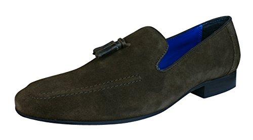 Red Tape Apsley los hombres del ante de los loafers / Zapatos Brown