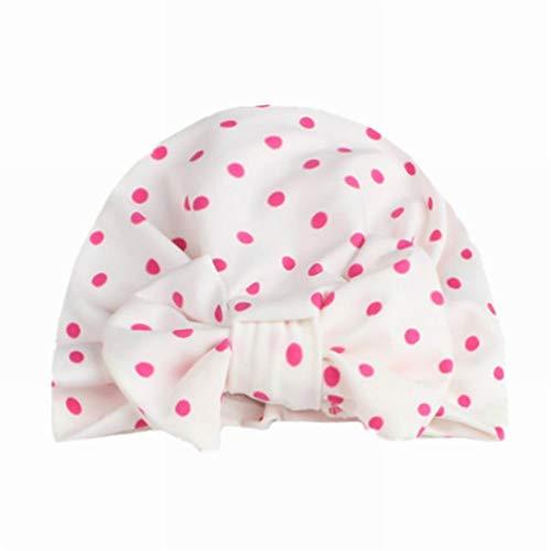JUST N1 Newborn Bow Hat Baby Toddler Cute Print Bowknot Tie Hooded Indian Cap Milk Silk Elastic Hedging Turban Headscarf for Infant Boy Girl