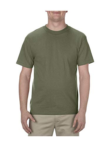 (Alstyle Apparel AAA Men's Classic T-Shirt, Military Green, 3X-Large)