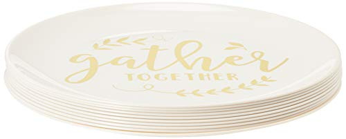 Gather Together Plastic Dinner Plates 10 1/2