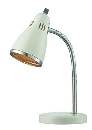 Lite Source LS-22535WHT Kris Metal Desk Lamp, White, ()