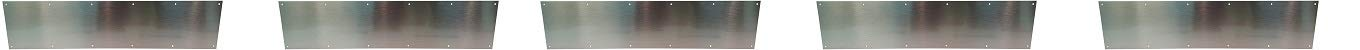 Don-Jo 90 Metal Kick Plate, Satin Stainless Steel Finish, 34'' Width x 6'' Height, 3/64'' Thick (5-(Pack))