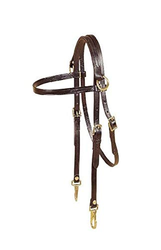 - Tory Leather Arabian Side Check Headstall with Snap Ends - Black