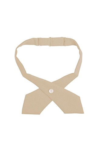 French Toast Girls' Adjustable Cross Tie Solid, Khaki, One Size