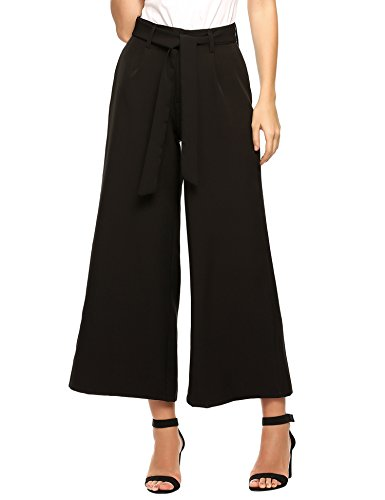 Striped Wide Leg Trousers - 1