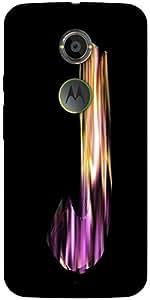 Snoogg Flaming 3D Letter Designer Protective Back Case Cover For Moto X2