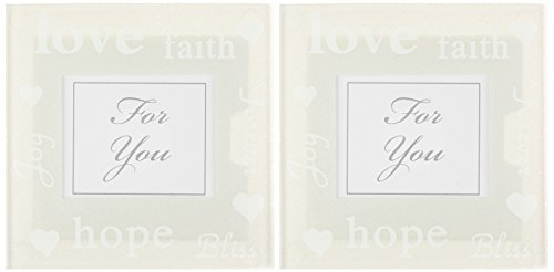 - Kate Aspen Good Wishes Pearlized Glass Photo Coasters