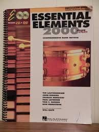 (ESSENTIAL ELEMENTS 2000, BOOK 1 - PERCUSSION (INCLUDES CD & DVD))