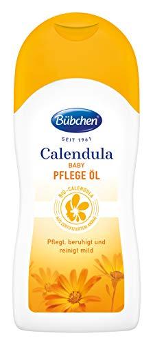 Bübchen Calendula Pflege Öl, mit BIO-Calendula zum Schutz empfindlicher Babyhaut, 200 ml
