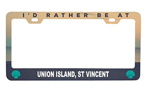 (Union Island St Vincent and The Grenadines Sea Shell Design Souvenir Metal License Plate Frame)