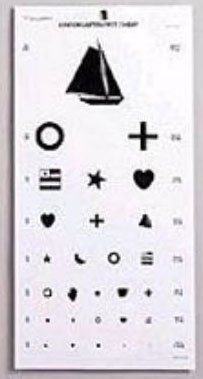 EMI Kindergarten Pediatric Eye Chart 22 In. X 11 In.