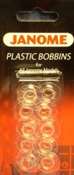 Janome Plastic Bobbins for All Home Use -
