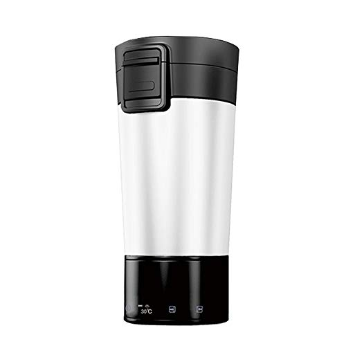 TERMALY Heat Up Car Mug,in Car Heated Cup,Heated Cup for Car,Water Heating Cup for Car,Digital Display Temperature, When Charging Treasure, Travel Bottle,B