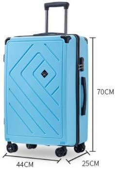 Trolley Gift Suitcase Male and Female Password Universal Wheel Suitcase 22 inch Color : Blue