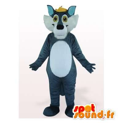 Mascota SpotSound Amazon personalizable lobo azul y blanco ...