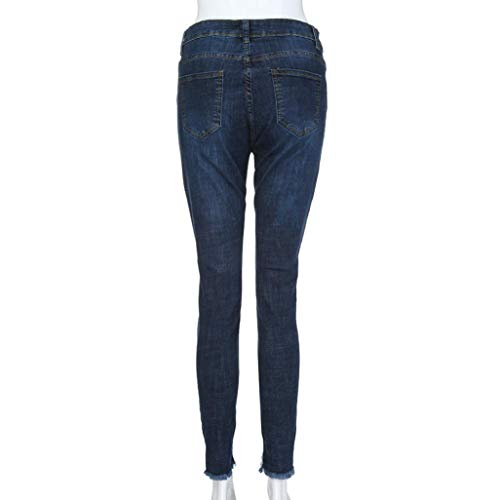 para para azul Pantalones Pantalones Primavera Vaqueros Mujer Alta oscuro Vaqueros Cintura Wawer Ajustados Vaqueros Invierno Vaqueros Pantalones Verano otoño TE7xqnH8