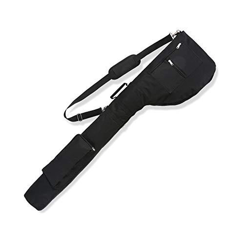 LONGCHAO Golf Sunday Bag-Driving Range Mini Course Training Practice Golf Bag Travel Case Foldable (Black)
