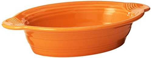 Fiesta Large Oval Baker, Tangerine