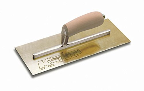Kraft Tool PL460 Golden Stainless Steel Plaster Trowel with Camel Back Wood Handle, 13 x 5-Inch by Kraft Tool