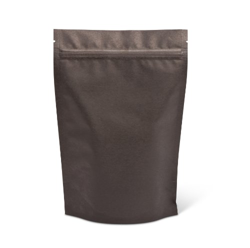 Pacific Bag 430-311B Stand-Up Pouch, 8 oz, Black Rice Paper with Zipper (Case of 500)