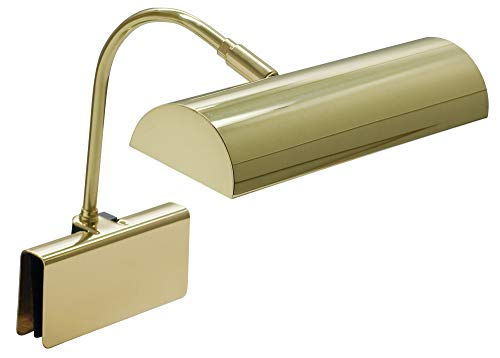 House Of Troy GPH10-PB Grand Piano 10-Inch Portable Halogen Lamp, Polished Brass