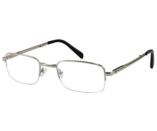 EyeBuyExpress Bifocal Mens Folding Reading Glasses Reader Cheaters Half Rim Spring - To Fit How Your To Buy Face Sunglasses