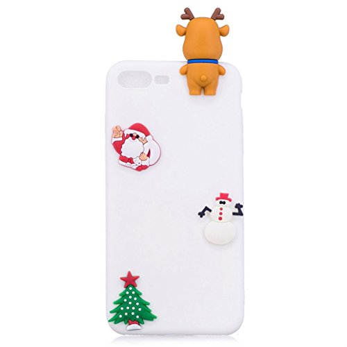 Price comparison product image Mchoice For iPhone 8/7 Plus 5.5 inch, Christmas Cute 3D Cartoon Soft TPU Back Case Cover for iPhone 8/7 Plus 5.5 inch (D)