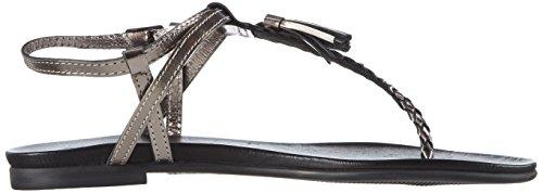 Inuovo 6188, Women's T-Bar Sandals Grey - Grau (Pewter)