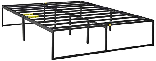 (Zinus Lorelei 14 Inch Platforma Bed Frame / Mattress Foundation / No Box Spring Needed / Steel Slat Support, Queen)