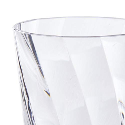 Optix 20-ounce Plastic Tumblers   set of 8 Clear