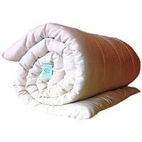 White Lotus Home Organic Cotton Mattress Topper 100% Organic Twill Outer Case